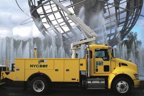 The New York City Department of Transportation has nine Kenworth T270 hybrid diesel-electric bucket trucks in service.