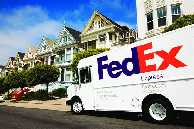 FedEx is using hybrid-electric and other alt-fuel vehicles to achieve its 2020 sustainability goals of 30-percent increased fuel efficiency.