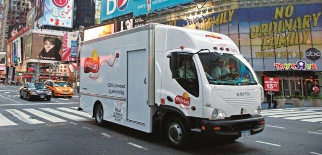 Frito-Lay will be operating 176 medium-duty electric box trucks purchased from Smith Electric Vehicles by mid-year.
