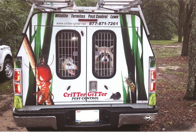 Lewis Pest Control uses a Prins bi-fuel propane autogas system, which starts on gasoline and switches to propane autogas after the engine heats up.