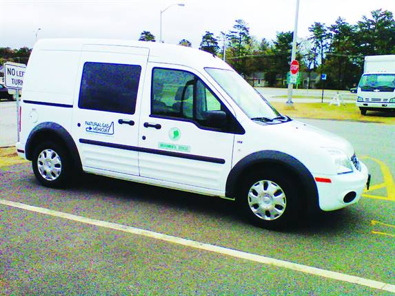 The New Hampshire Department of Environmental Services uses a CNG Ford Transit Connect for air quality monitoring.