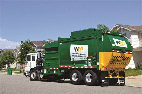 Waste Management operates 2,500 Class 8 refuse collection trucks powered by compressed natural gas (CNG), which represents 15 percent of its total fleet.