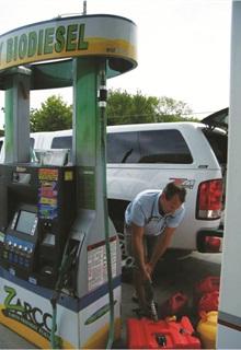 A hybrid-electric bucket truck in the City of Wichita's fleet.