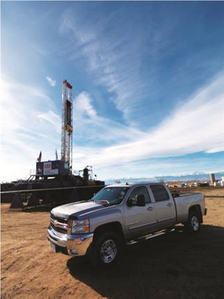 According to David Hill, vice president of operations for Encana's Natural Fas Economy division, the company is converting ¾-ton pickup trucks to CNG, such as Chevrolet 2500, Ford F-250, and Ram 2500 models.