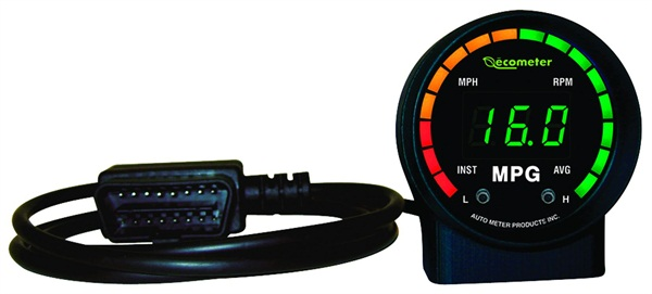 "Working with a vehicle's OBD-II, the Ecometer is a ""plug-and-play"" instantaneous fuel-efficiency meter."