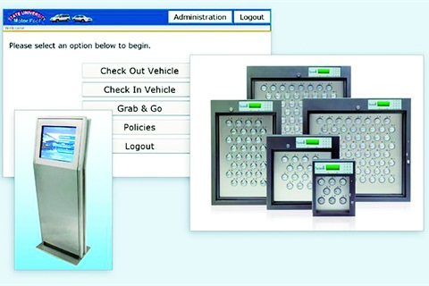 An easy-to-use system for picking up vehicles is also helpful, such as Agile's FleetCommander kiosk and secure key control boxes.