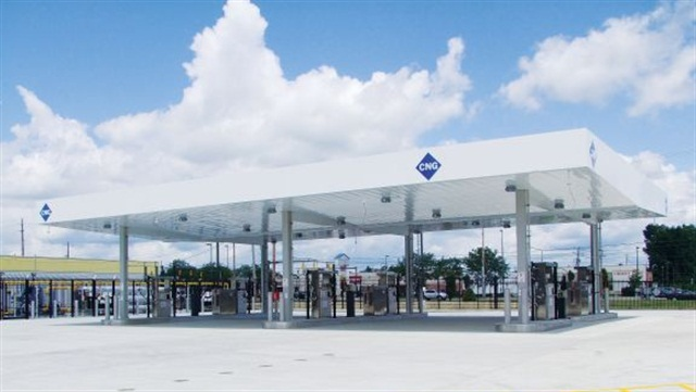 Taking the right steps when embarking on a CNG fleet project can lead to success and a return on investment. The site pictured here shows a well-designed fueling station.