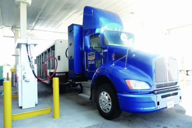 Suppliers are finding ways to hold more CNG in on-board tanks, making it viable for trucks to accomplish longer highway runs. Photos: Tom Berg