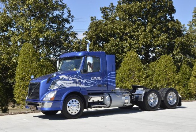 Volvo Trucks North America has put its work on a DME-powered truck on pause, saying the market is not ready. Photo: Volvo