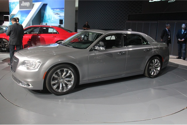 The V-8 Chrysler 300C will get improved fuel economy. Photo by Paul Clinton.