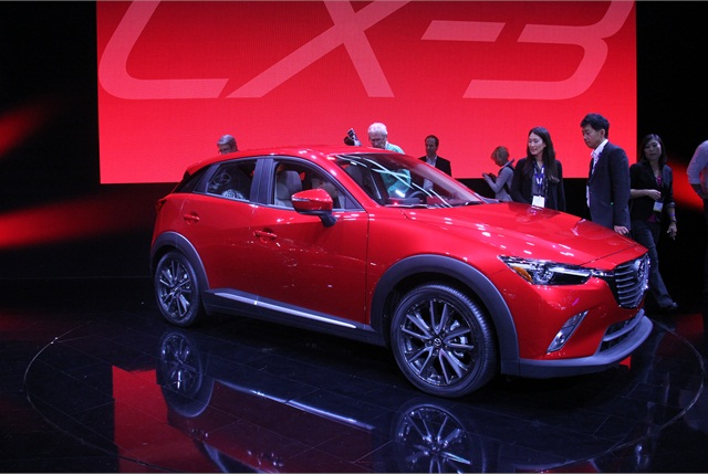 Mazda introduced its CX-3 compact SUV. Photo by Paul Clinton.