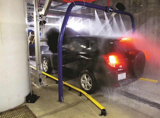 The automated car wash inside Seattle-Tacoma International Airport's consolidated rental car facility. Photo courtesy of Conrac Solutions.