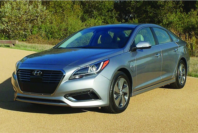 The Sonata Hybrid was Hyundai's first venture into alternative-fuel vehicles. Photo courtesy of Hyundai
