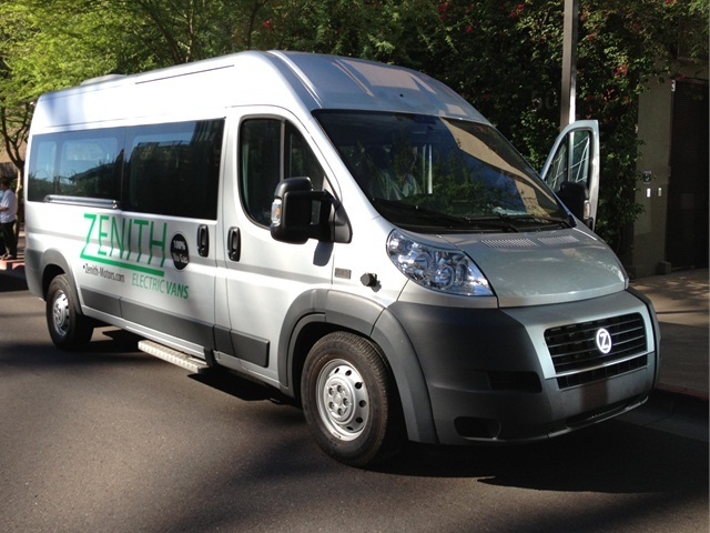 The Zenith Electric Shuttle Van (pictured at last year's event) will be there at this year's Ride & Drive.