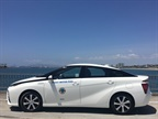 The City of Long Beach, Calif., is testing out a Mirai to determine practicality and operating cost. Photo courtesy of City of Long Beach