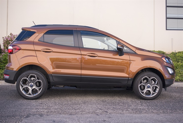 The EcoSport is 161.3 inches long and sits on a 99.2-inch wheelbase and is positioned below the Escape. Photo by Vince Taroc.