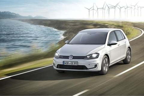 The Volkswagen e-Golf, a zero emissions electric passeger car, was shown at the 2013 International Automobile-Ausstellung (International Automobile Exhibition) Motor Show.Photo courtesy Volkswagen