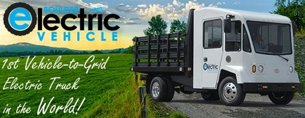 The first Vehicle-to-Grid electric truck in the world was actualized by Boulder Electric Vehicle and Coritech Services.Photo: Boulder Electric Vehicle