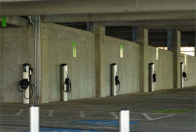 The City of Davis received grant funding to develop a plan for additional EV charging stations. Photo courtesy of Flickr/NCDOTCommunications