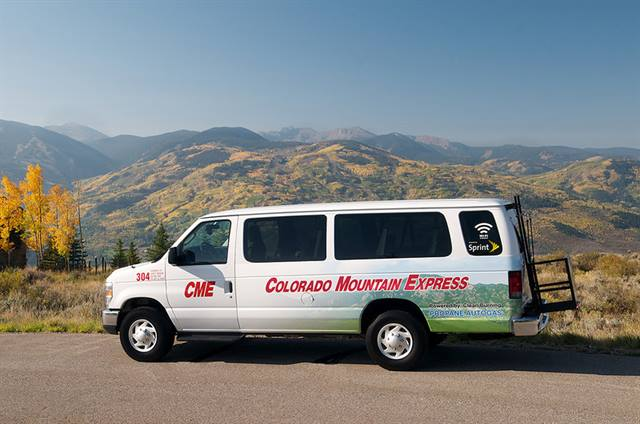 The company's four 15-passenger ROUSH CleanTech propane autogas powered Ford E-350 vans have been serving Vail resorts during the past year. (Photo: ROUSH CleanTech)