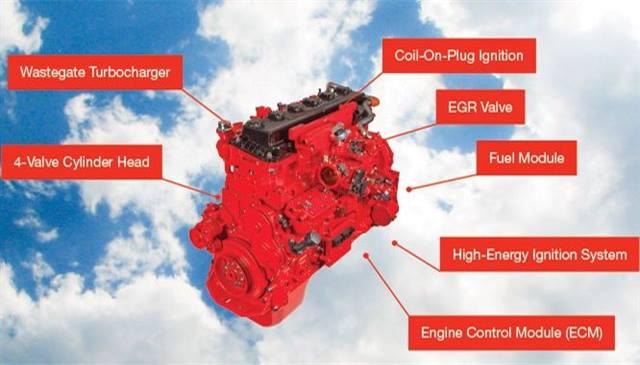 Photo of ISX 12 G engine courtesy of Cummins Westport.