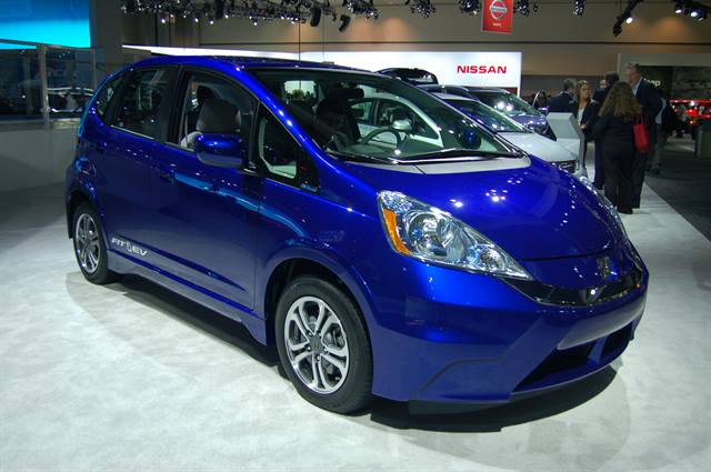 Photo of the 2013 Honda Fit EV on display at the 2012 LA Auto Show. (Photo: Grace Suizo)