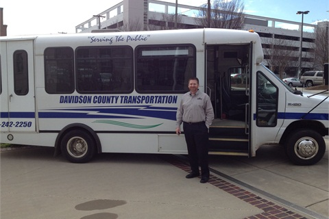 A Davidson County shuttle fueled by propane autogas.