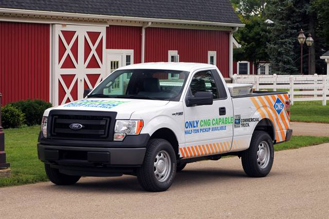 Ford Motor Co. is the only manufacturer to offer a CNG/LNG-capable half-ton pickup truck.Photo courtesy of Ford Motor Co.