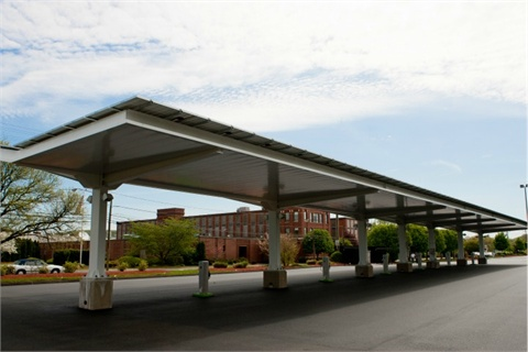 The GE EV Solar Carport in Plainville