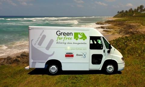 A pre-production vehicle arising from the Green for Free initiative.