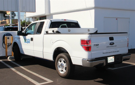 The EVAOS EV add-on system will be available initially for F-150, F-250, and F-350 Ford pickup trucks.