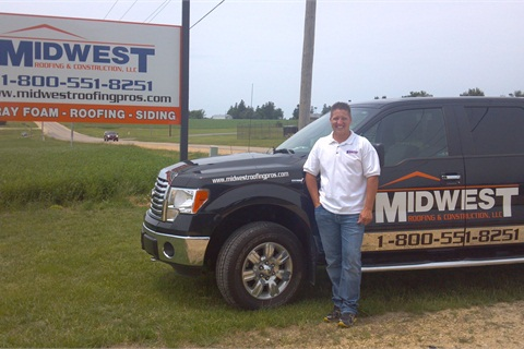 Josh Fowler, Midwest Roofing and Construction owner, said the new propane autogas truck saved the company $400-500 in the first month of operation.