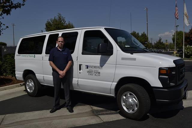 Tom Wurdack, fleet manager for Renzenberger for the past four years, said reduced maintenance costs and less downtime are some of the benefits that come with the new propane autogas vans.