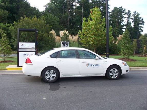 One of City of Rock Hill's CNG Chevrolet Impalas.Photo courtesy City of Rock Hill