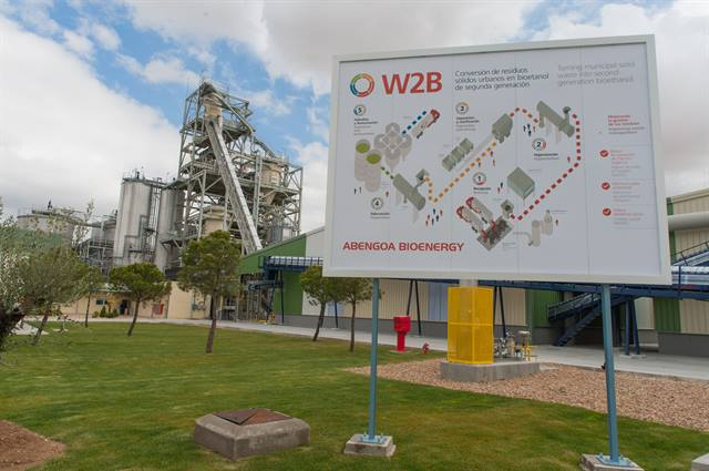 Abengoa's waste-to-biofuels (W2B) demonstration plant in Babilafuente, Spain.Photo courtesy Abengoa