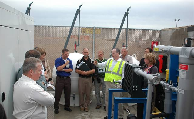 Attendees were taken on a hands-on tour of Trillium's Class 8 CNG fueling station.