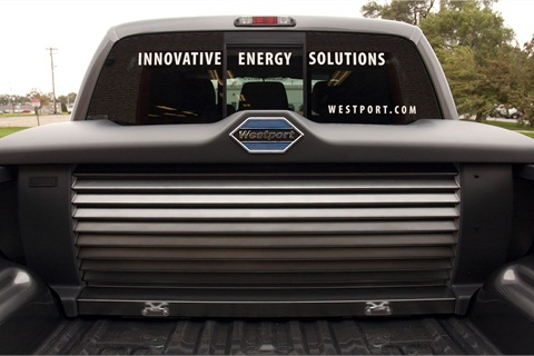 Wesport's CNG tank cover on the F-150.Photo courtesy of Westport