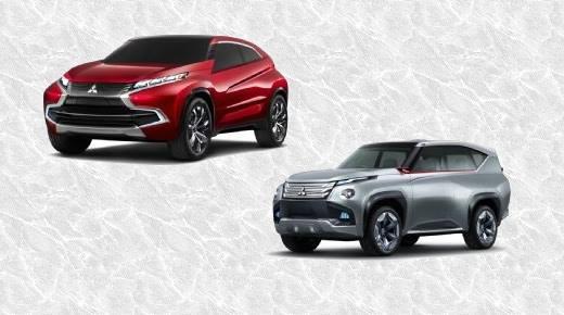 Mitsubishi Concept XR-PHEV and Mitsubishi Concept GC-PHEV.