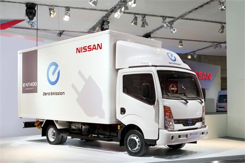 Nissan's light truck e-NT400 is still in the development phase.Photo courtesy Nissan