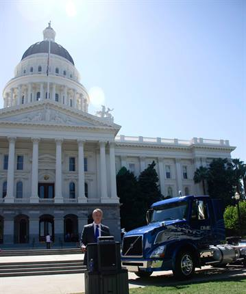 """<p><span class=""""xn-person""""><span>Goran Nyberg</span></span>, president of Volvo Trucks North American sales and marketing, announced plans to utilize a new, clean-burning alternative fuel to power its heavy-duty trucks.</p>"""