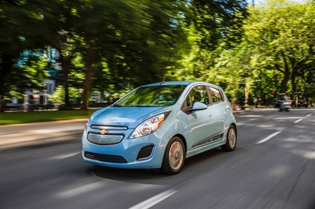 Photo of 2014 Chevrolet Spark EV courtesy of General Motors.
