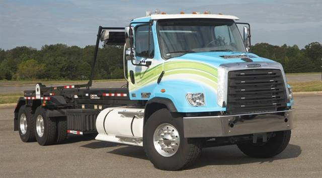 The 114SD, built on Freightliner's severe-duty platform, now offers 12-liter natural gas power. Photo: Freightliner