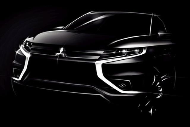 Photo of the Outlander PHEV Concept-S via Mitsubishi