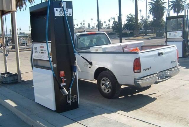 Municipal CNG fueling station in Riverside, Calif.