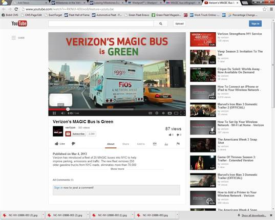 """<p>Video of Verizon's MAGIC bus is <a href=""""http://www.youtube.com/watch?v=RKNUl-K0Uvo&feature=youtu.be"""" target=""""_blank"""">available on YouTube</a>.</p>"""