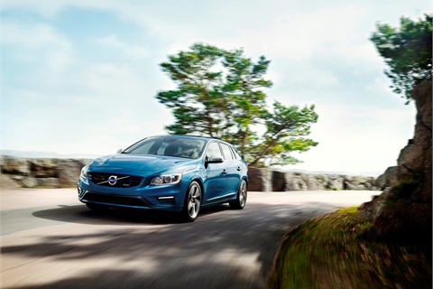 By hitting a button on the 2015 Volvo V60 Plug-in Hybrid, drivers can choose to cover up to about 30 miles on pure electric power. Photo courtesy of Volvo.