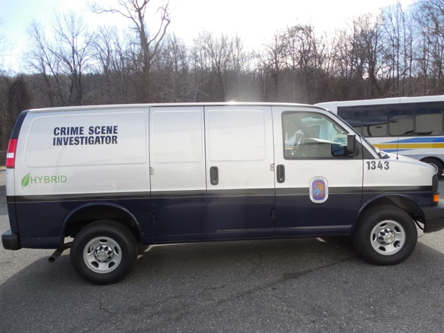 Photo of a Prince George s County cargo van with XL3 Hybrid Electric