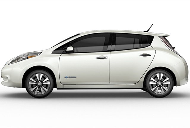 Photo of Nissan Leaf electric car courtesy of Nissan.