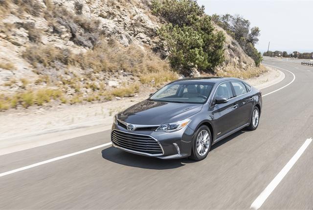 Photo of Toyota Avalon Hybrid courtesy of Toyota.