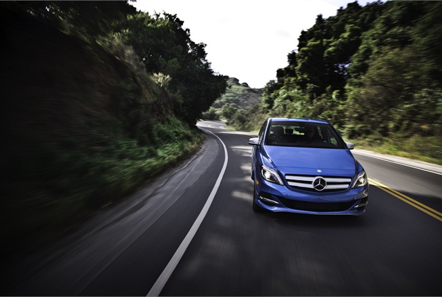Photo of Mercedes-Benz B-Class Electric Drive vehicle courtesy of Mercedes-Benz USA.
